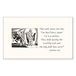 Jesus Temptation Satan Sticker (Rectangle 10 pk)