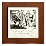 Jesus Temptation Satan Framed Tile