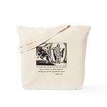 Jesus Temptation Satan Tote Bag
