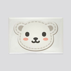 Cute Polar Bear Rectangle Magnet