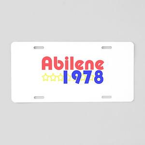 Abilene Aluminum License Plate