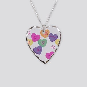 Candy Hearts! Necklace Heart Charm