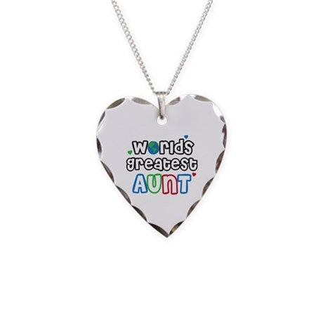 World's Greatest Aunt! Necklace Heart Charm