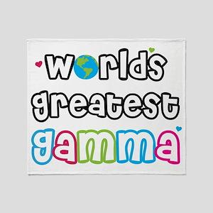 World's Greatest Gamma! Throw Blanket
