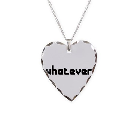 whatever Necklace Heart Charm