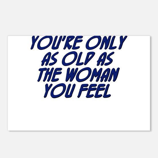 You're only as old as the wom Postcards (Package o