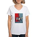 Robo Hope Women's V-Neck T-Shirt
