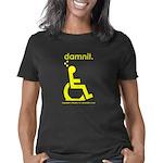 damnit.wheelchair.yellow Women's Classic T-Shirt