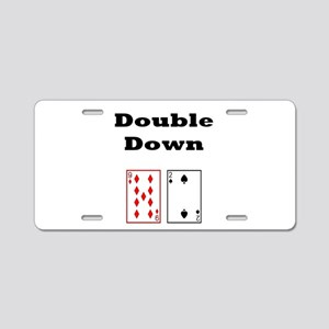 Double Down Aluminum License Plate