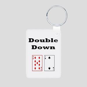 Double Down Aluminum Photo Keychain