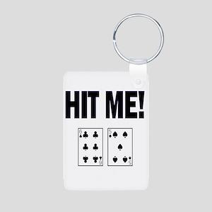 Hit Me! Aluminum Photo Keychain