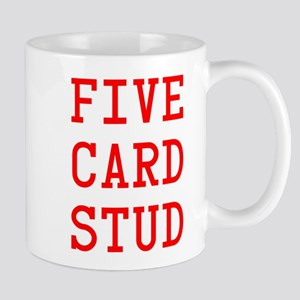 Five Card Stud Red Mug