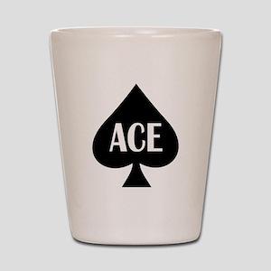Ace Kicker Shot Glass
