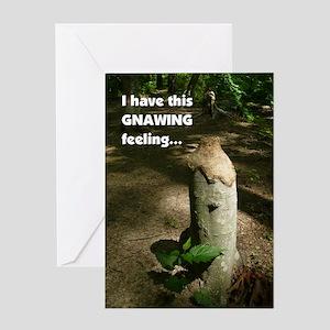 """Gnawing Feeling"" Single Greeting Card"