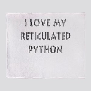 Luv My Reticulated Python (Wh Throw Blanket
