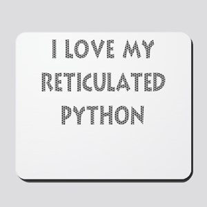 Luv My Reticulated Python (Wh Mousepad