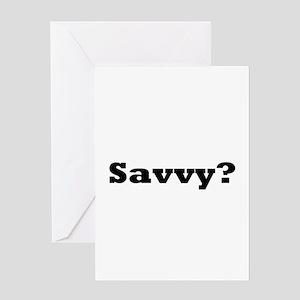 Savvy? 2 Greeting Card