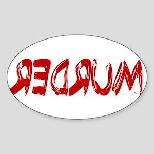 REDRUM Sticker (Oval)