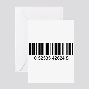 Barcode (large) Greeting Card