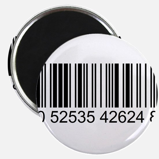 """Barcode (large) 2.25"""" Magnet (100 pack)"""