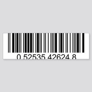 Barcode (large) Sticker (Bumper)