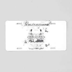 Restrayned Skull Wings in Chr Aluminum License Pla