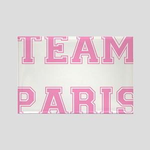 Team Paris Light Pink Rectangle Magnet