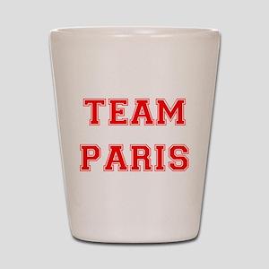 Team Paris Red Shot Glass