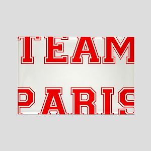 Team Paris Red Rectangle Magnet