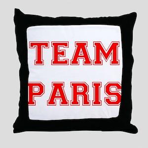Team Paris Red Throw Pillow