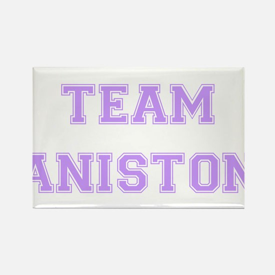 Team Aniston Lavender Rectangle Magnet