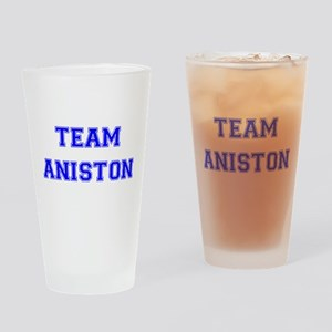 Team Aniston Blue Drinking Glass