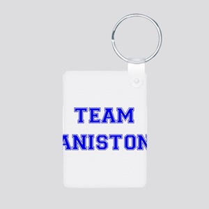 Team Aniston Blue Aluminum Photo Keychain