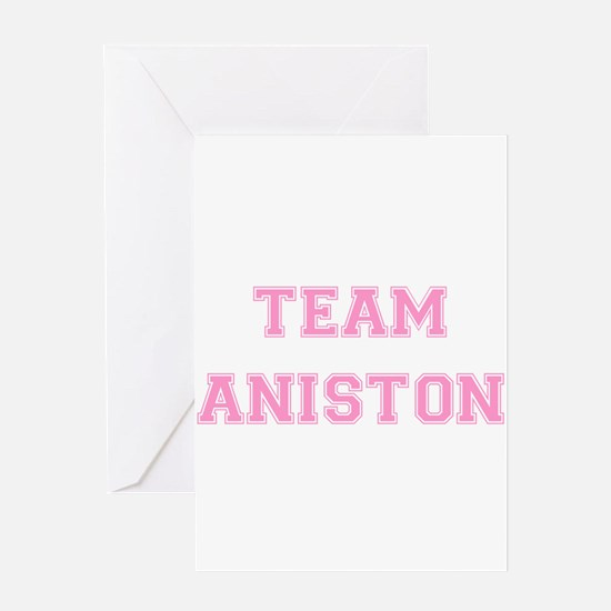 Team Aniston Pink Greeting Card