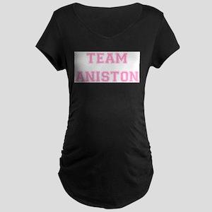 Team Aniston Pink Maternity Dark T-Shirt