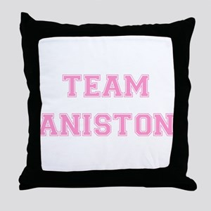 Team Aniston Pink Throw Pillow