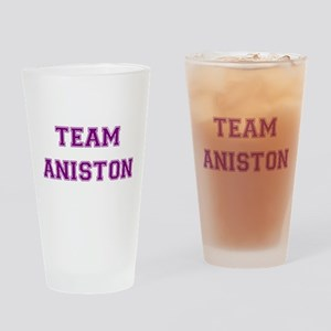 Team Aniston Purple Drinking Glass