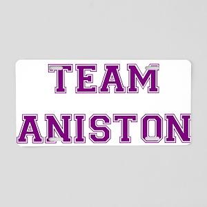 Team Aniston Purple Aluminum License Plate