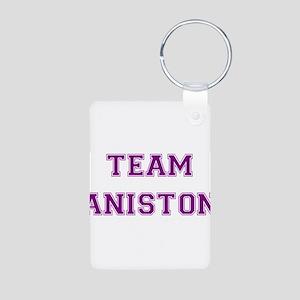 Team Aniston Purple Aluminum Photo Keychain