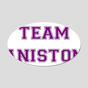 Team Aniston Purple 22x14 Oval Wall Peel
