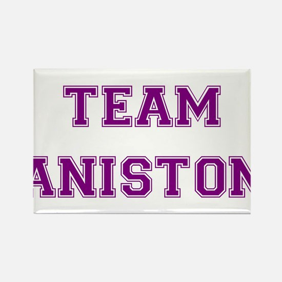 Team Aniston Purple Rectangle Magnet