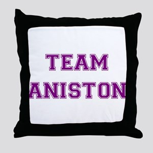 Team Aniston Purple Throw Pillow