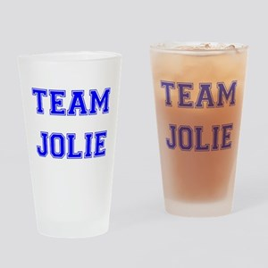 Team Jolie Blue Drinking Glass
