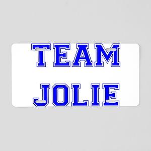 Team Jolie Blue Aluminum License Plate