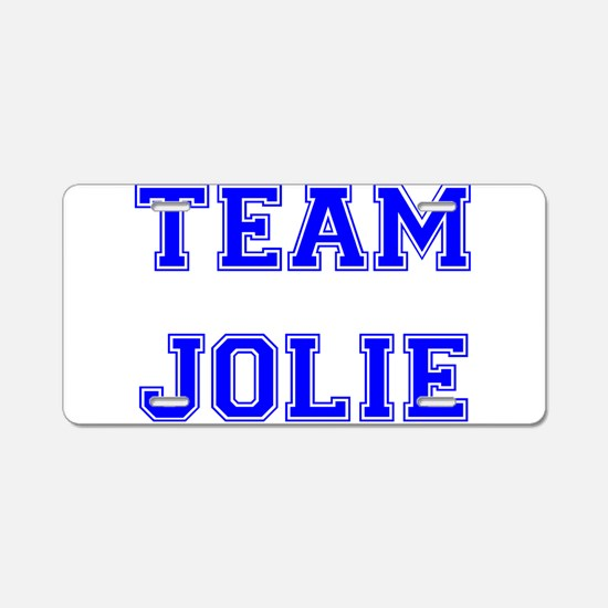 Team Jolie Blue Aluminum License Plate