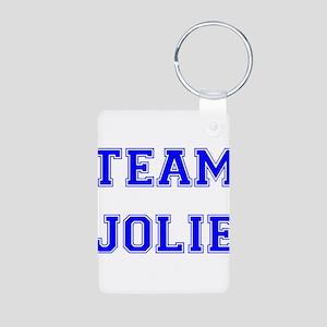Team Jolie Blue Aluminum Photo Keychain