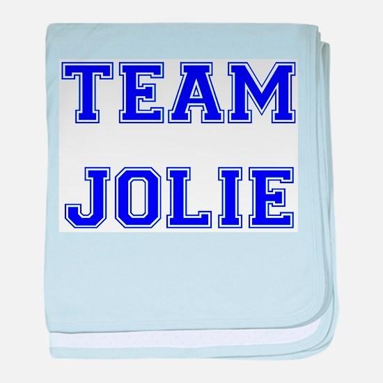 Team Jolie Blue baby blanket
