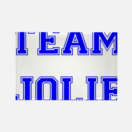 Team Jolie Blue Rectangle Magnet