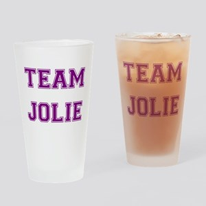 Team Jolie Purple Drinking Glass