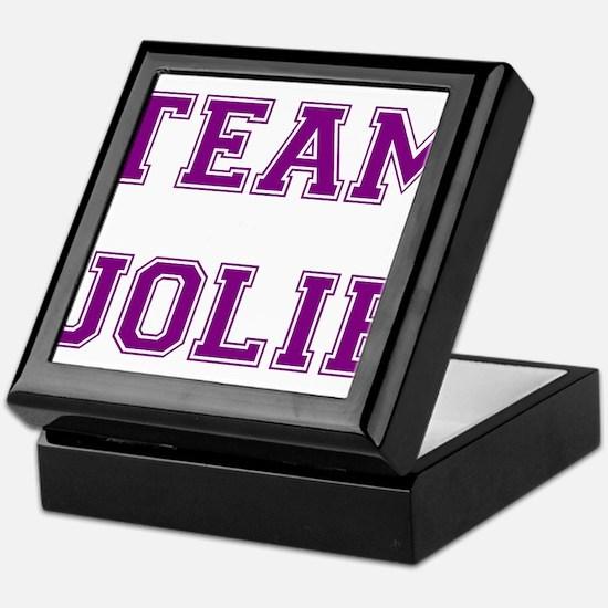 Team Jolie Purple Keepsake Box